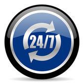 Service icon24h icon — Zdjęcie stockowe