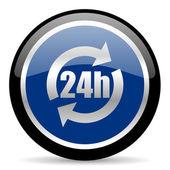 Ikona 24h — Zdjęcie stockowe