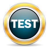 Test icon — Stock Photo