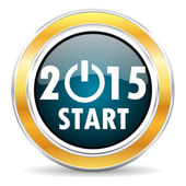 New year 2015 icon — Stockfoto