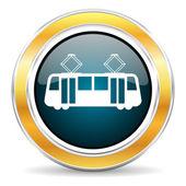 Tram icon — Stock Photo