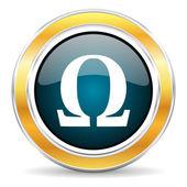 Icono de Omega — Foto de Stock