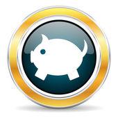 Piggy bank icon — Stockfoto