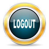 Logout icon — Stock Photo