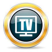 Televizní ikona — Stock fotografie