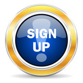 Sign up icon — Stock Photo