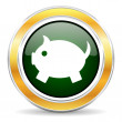 Piggy bank icon — Stock Photo #42693367