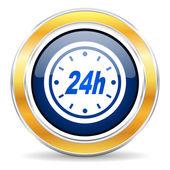 24h ikona — Stock fotografie