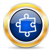 Puzzle icon — Stock Photo