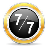 7 per 7 icon — Stock Photo