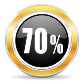 70 percent icon — Stock Photo