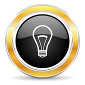 灯泡图标 — 图库照片