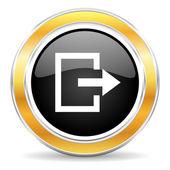 Zjazd ikona — Zdjęcie stockowe