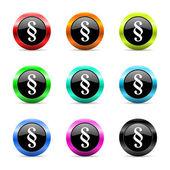 Paragraph web icons set — Stock Photo