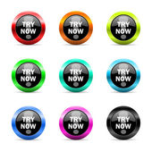 Try now web icons set — Stock Photo