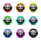 Special price web icons set — Stock Photo
