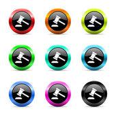 Auction web icons set — Stock Photo