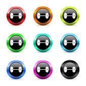 Fitness web icons set — Stock Photo