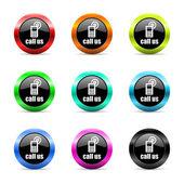 Call us web icons set — Stockfoto