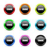 Battery web icons set — Stock Photo