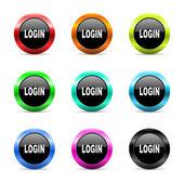 Zestaw ikon web logowania — Zdjęcie stockowe
