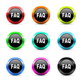 Faq web icons set — Stock Photo