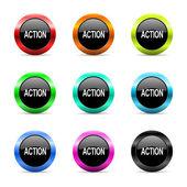 Action web icons set — Stock Photo