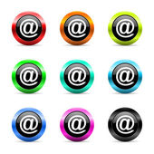 Mail web icons set — Stock Photo