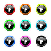 Fahrenheit web icons set — Stock Photo