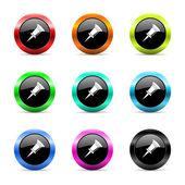 Pin web icons set — Stock Photo