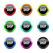 Shop web icons set — Stock Photo
