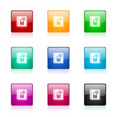 Phonebook web icons set — Stock Photo
