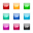 Erp web icons set — Stock Photo
