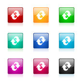 Rotation web icons set — Stock Photo