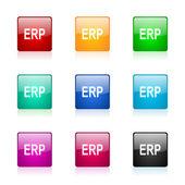 Erp web icons set — Stock Photo