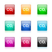 Carbon dioxide web icons set — Stock Photo