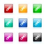 Link web icons set — Stock Photo #42996563