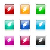 Nature web icons set — Foto de Stock