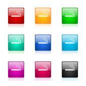 Cigarette web icons set — Stock Photo