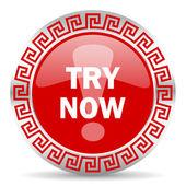 Try now icon — Stock Photo
