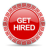 Get hired icon — 图库照片