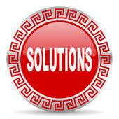 Icono de soluciones — Foto de Stock