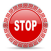 Stop icon — Stock Photo