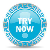 Try now icon — Stock Photo