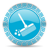 Broom icon — Foto Stock