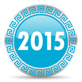 New year 2015 icon — Stok fotoğraf