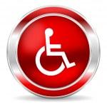 Wheelchair icon — Stock Photo #43633061