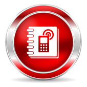 Telefon defteri simgesi — Stok fotoğraf