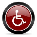 Wheelchair icon — Stock Photo #43779033