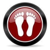 Icona del piede — Foto Stock
